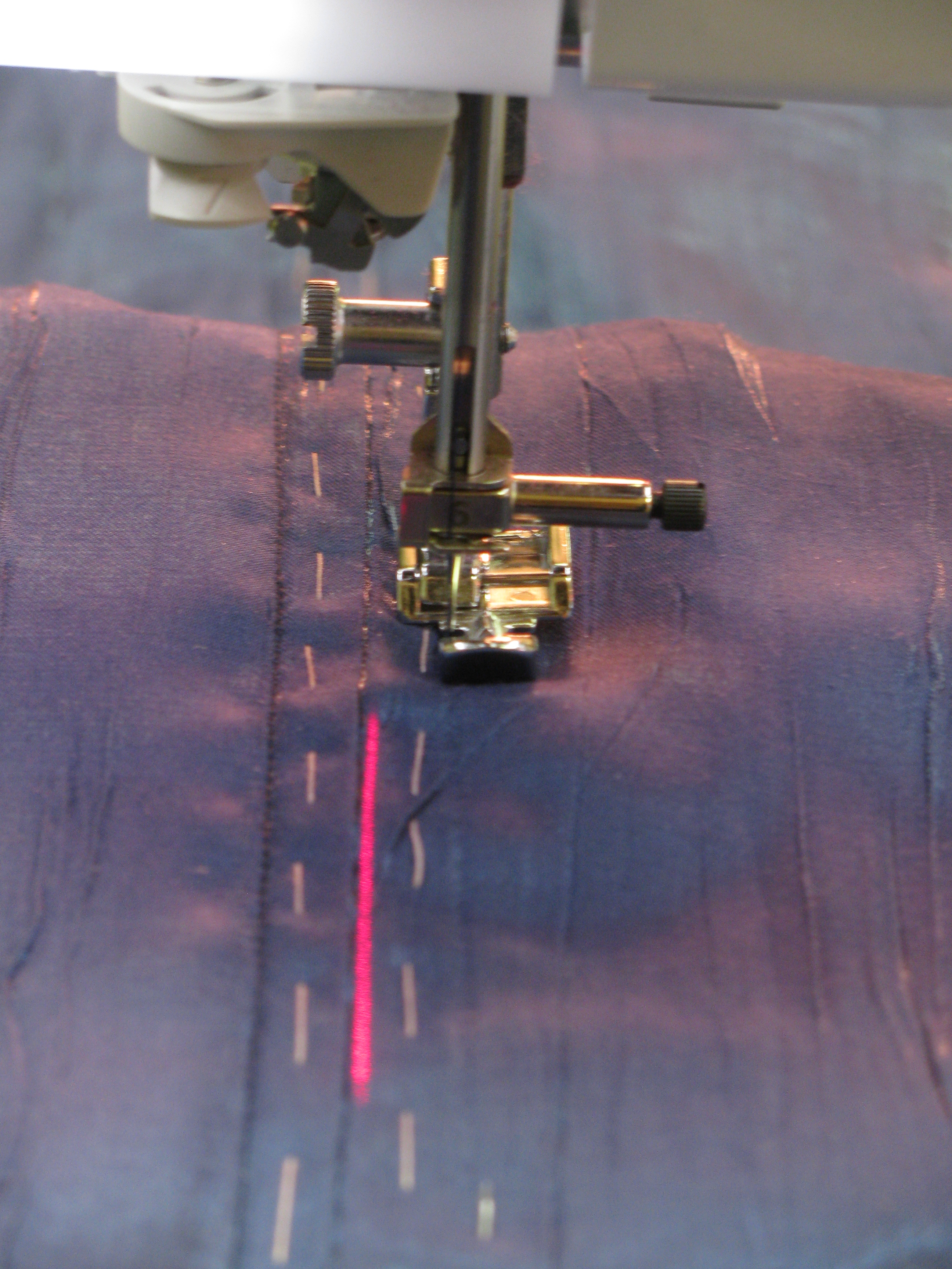 laser guide for sewing machine