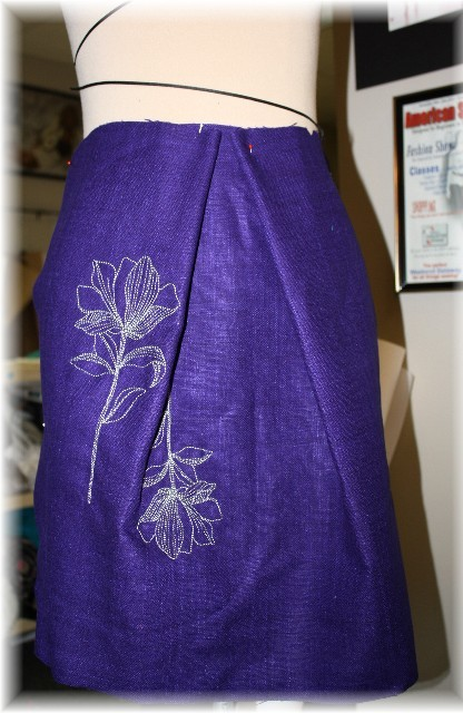Embroidery Embellishment and Congrats to Serger Class Winner!
