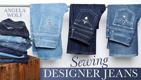 sewing deisgner jeans with Angela Wolf