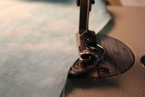 How to sew a double fold narrow hem DIY15