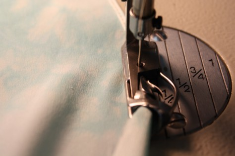 How to sew a double fold narrow hem DIY16