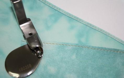How to sew a double fold narrow hem DIY18