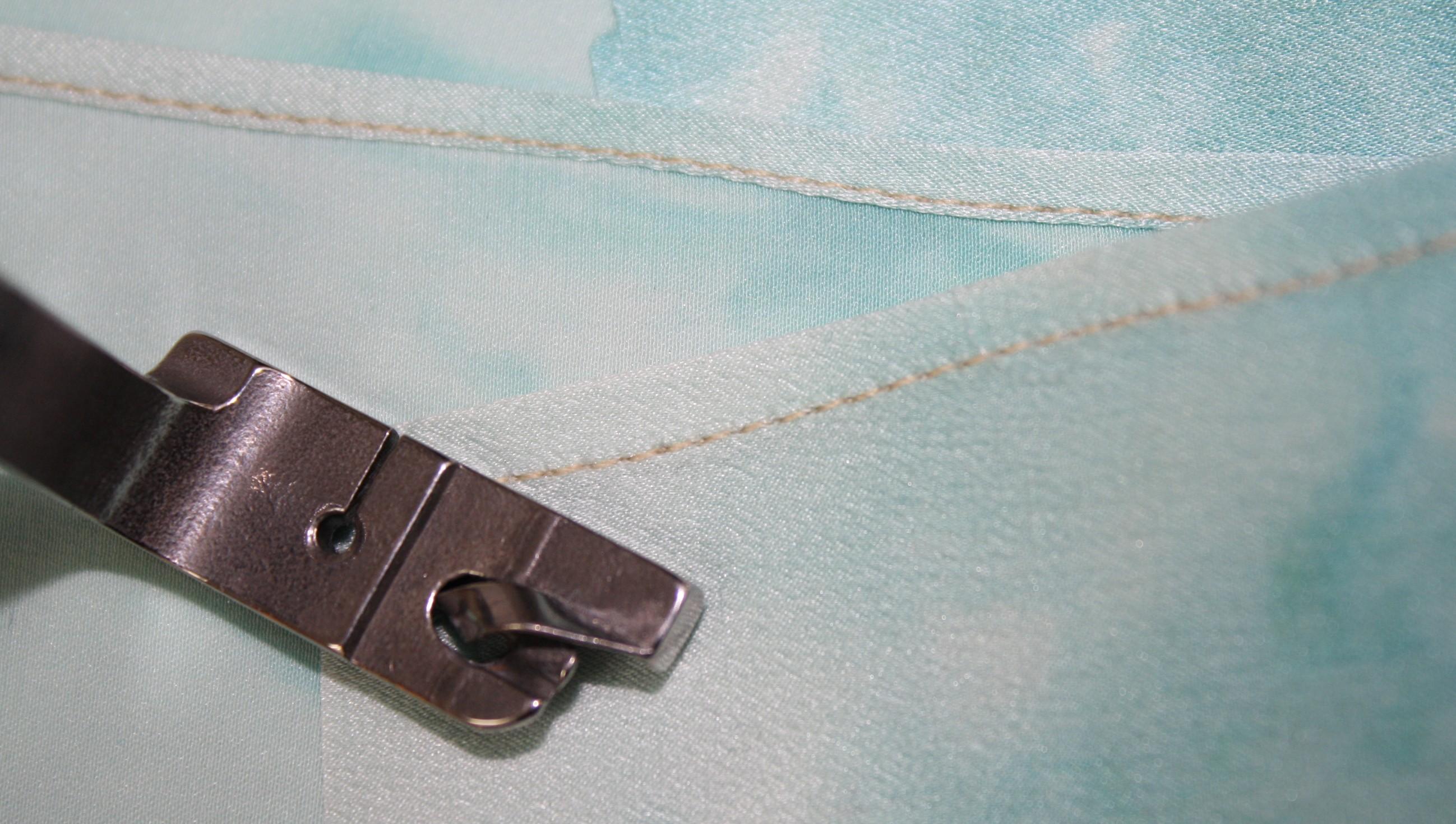 How to sew a double fold narrow hem DIY28