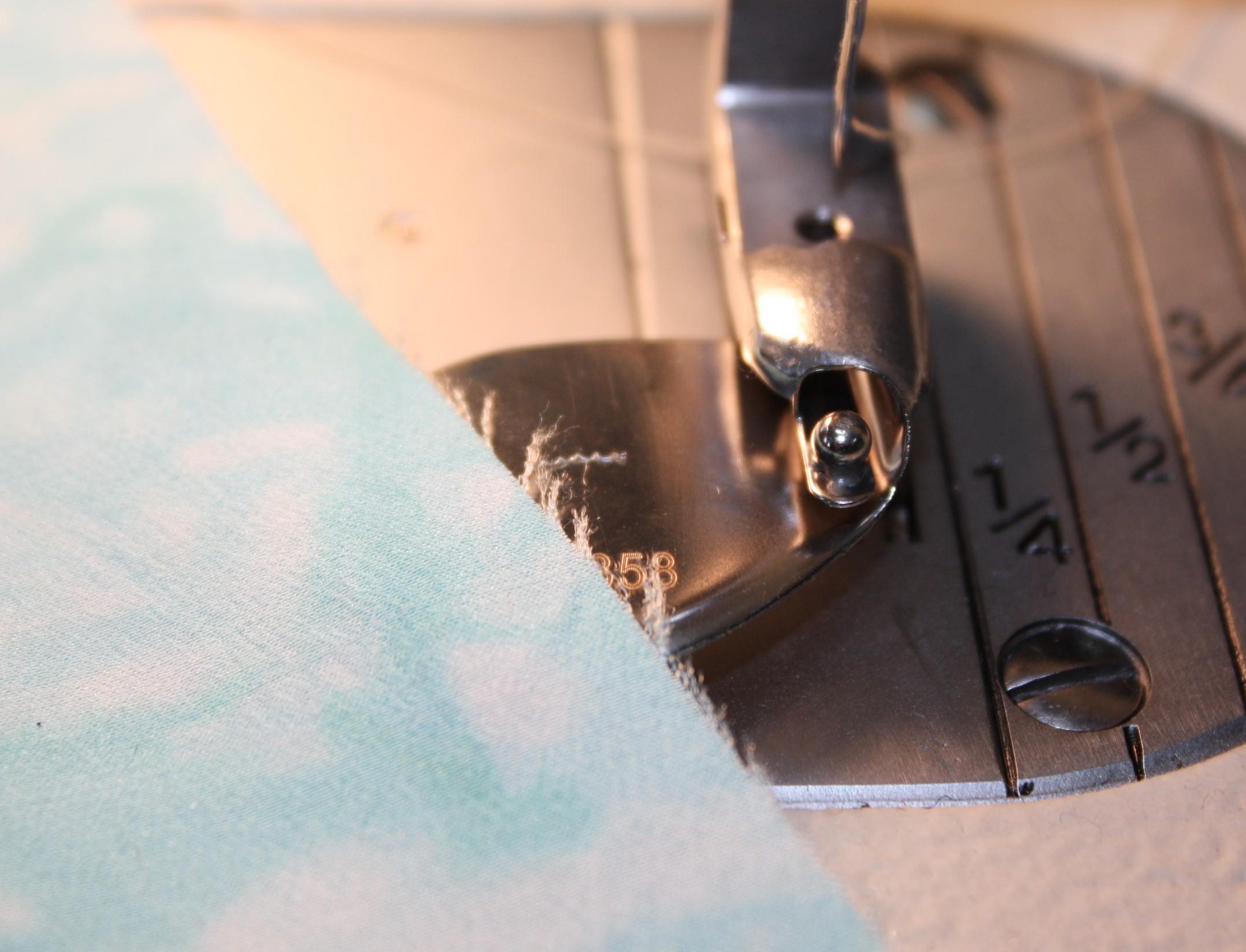 How to sew a double fold narrow hem DIY6