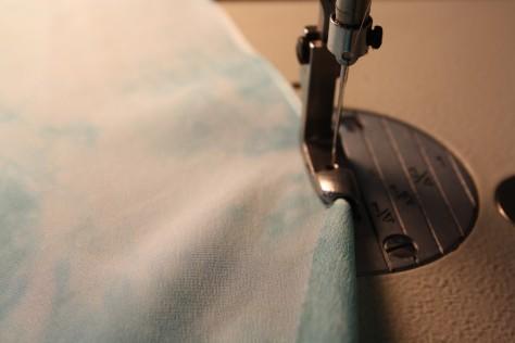How to sew a double fold narrow hem DIY9