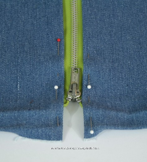 how to stop your denim fromskirt fraying